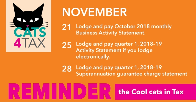 November tax reminders